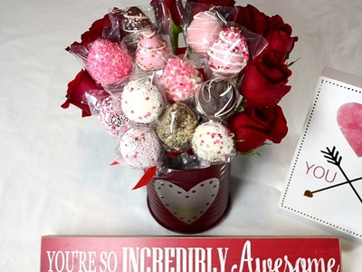 How to make a Chocolate Covered Strawberry Arrangement for Valentine's Day