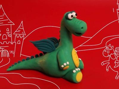 How to make  a clay Dragon - Trailer - פלסטלינה בקטנה