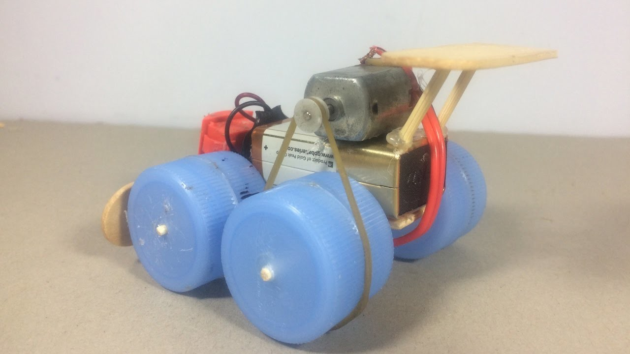 How to make a toy car - Powered Electric Motor Car DIY