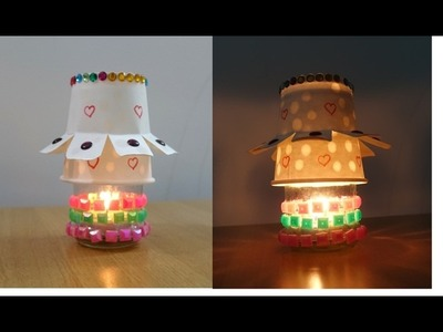 How to make DIY Night Lamp ~ Easy Paper Cup Lamp  (Night Light) ~ Room Decor ~ Tutorial .