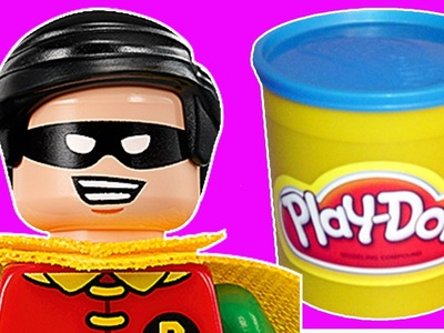 How To Make Lego Robin from Play Doh! The Lego Batman Movie Play-Doh Craft |