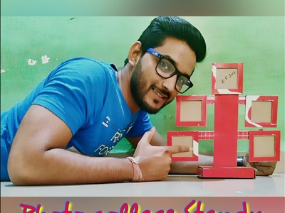 HOW TO MAKE LOVELY PHOTO COLLAGE FRAME STANDY IN FEW STEP | WITH SHOE BOX AT HOME | FULL  TUTORIAL