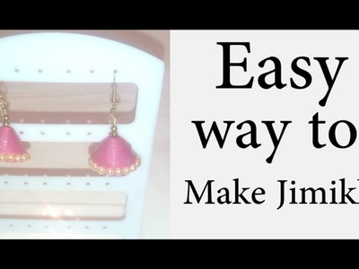 How to Make Paper Quilled Jimikki ( Jhumkas )