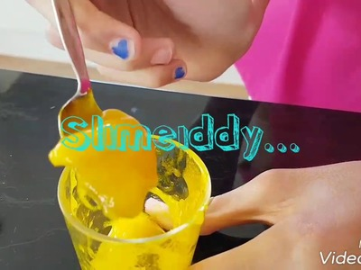 How to make slime with shampoo, salt & gel food colouring