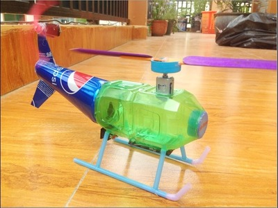 How To Make Toy Helicopter DIY - Power Helicopter Very Easy