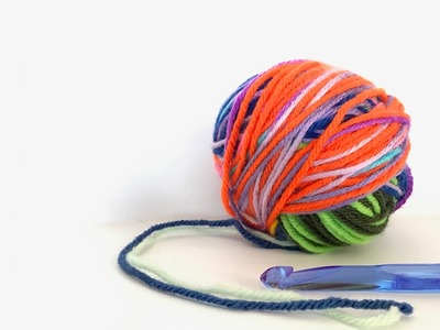 How to Roll an Epic Double-Strand Scrap Yarn Ball