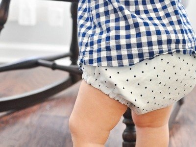 How to Sew a Reversible Diaper Cover and FREE pattern!