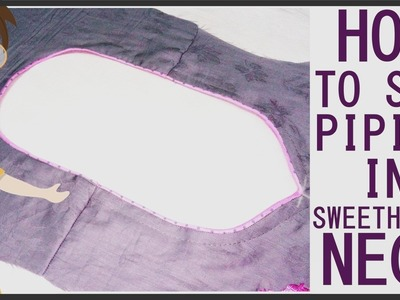How To Sew Piping In Sweetheart Neck | DIY - Tailoring With Usha