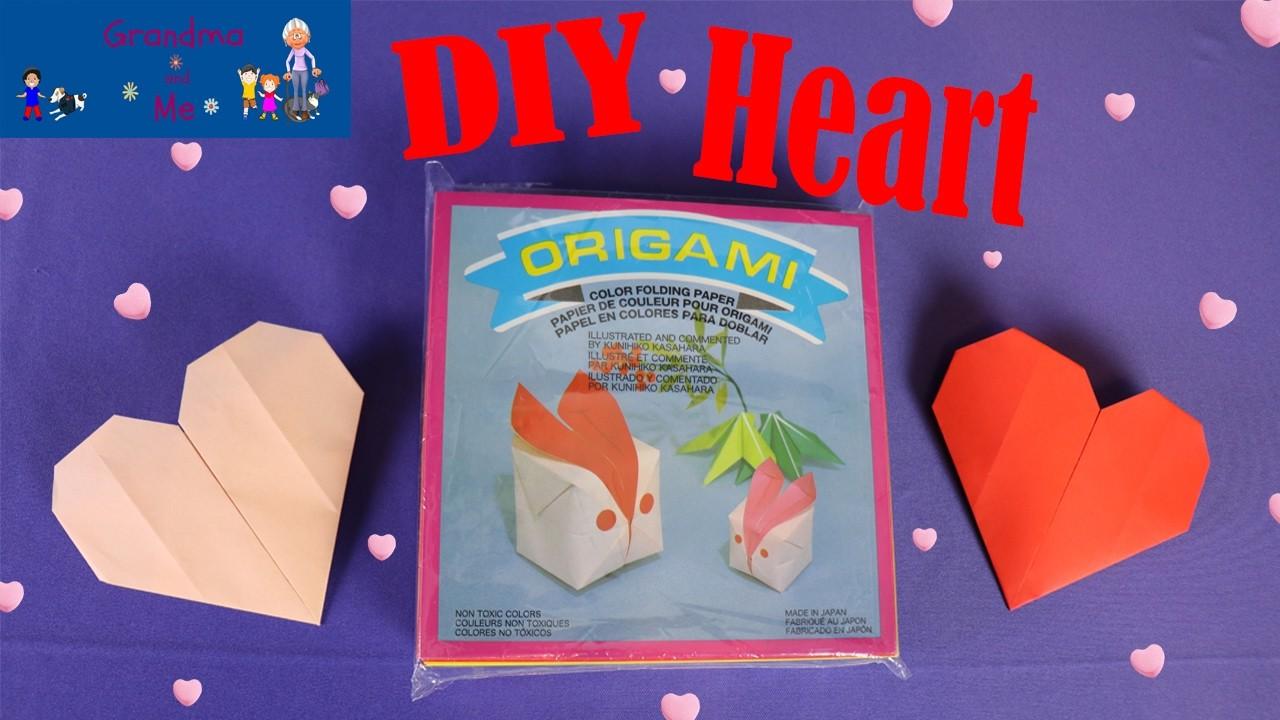 Origami Heart DIY | Grandma and Me