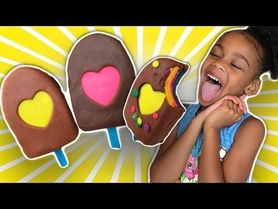 Play Doh Popsicles Treats DIY Ice Cream Ultimate Rainbow Popsicle for Kids Naiah and Elli Toys Show