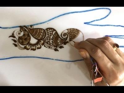 Simple mehendi chapter 49 :  DIY sangeet stripes mehnedi henna design