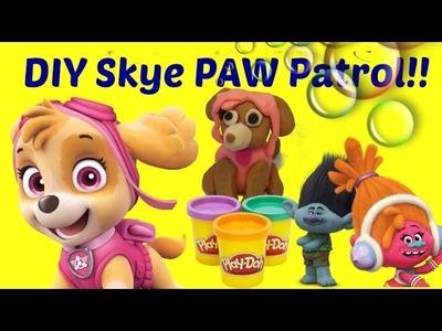 TROLLS Branch and DJ Suki make Paw Patrol Skye. Play Doh DIY!!!
