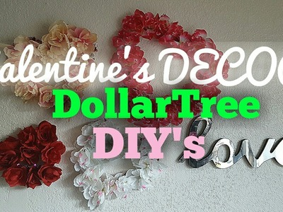 Valentine's Day Dollar Tree DECOR DIY'S - Floral Hearts & Tablescape