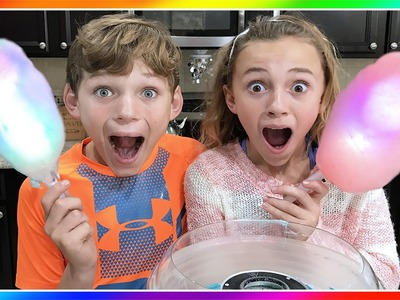 WE MAKE GLOWING COTTON CANDY DIY | We Are The Davises