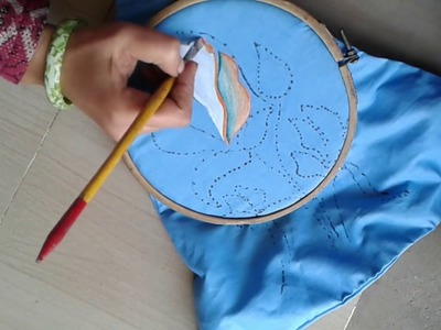 1 how to do painting,cution painting ,how to do fabric pinting
