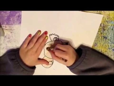 Child Art By Addy  How To Draw Rudolph Reindeer