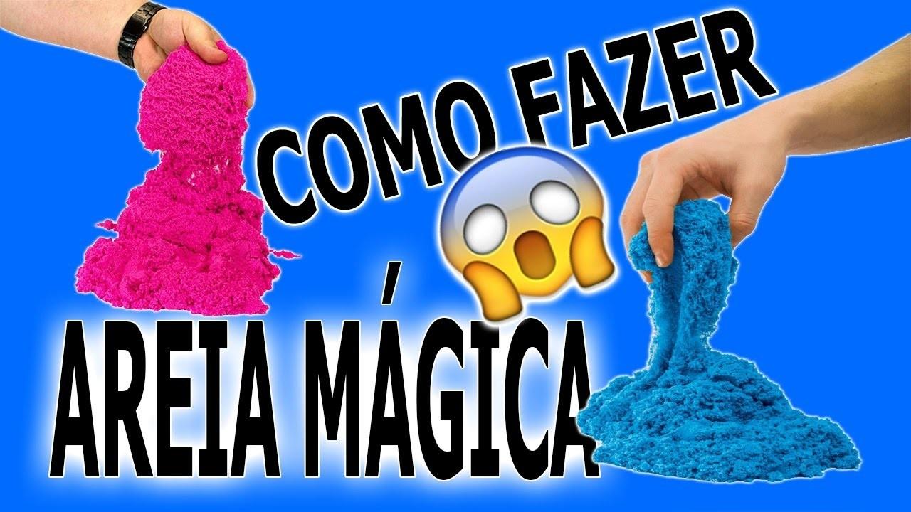 COMO FAZER AREIA MAGICA!! | DIY KINECT SAND