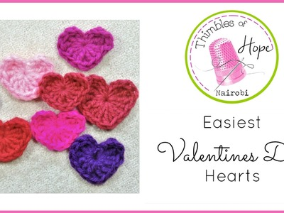 CROCHET: Easiest Valentines Day Hearts