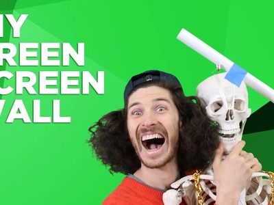 DIY Green Screen Wall (with Seamless Paper)