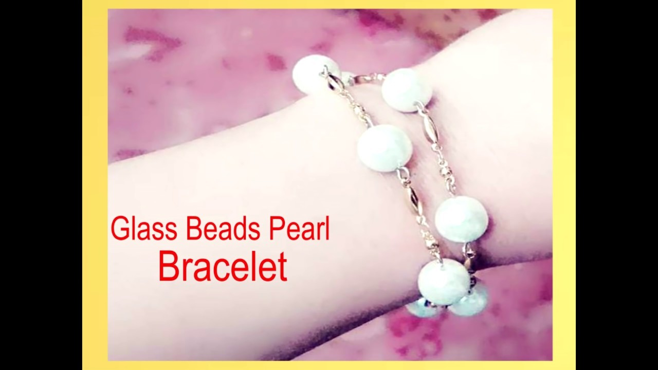 DIY how to make elegant Pearl Bracelet for Valentine's day special.  February - 8 - 2017