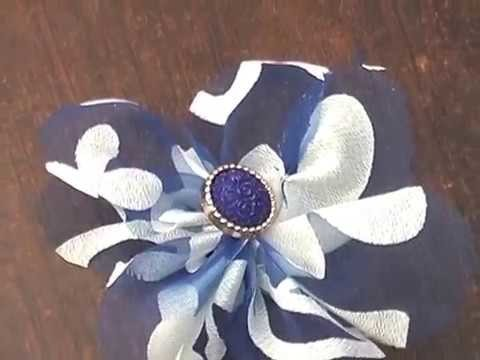 DIY- HOW TO MAKE FABRIC FLOWERS