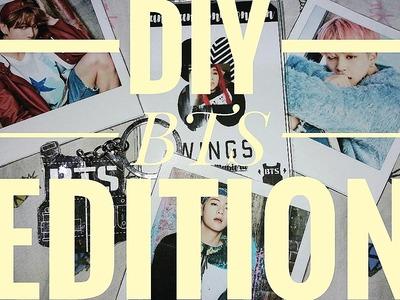 DIY I.D, Keychain & Polaroid Pictures   BTS Edition♡  