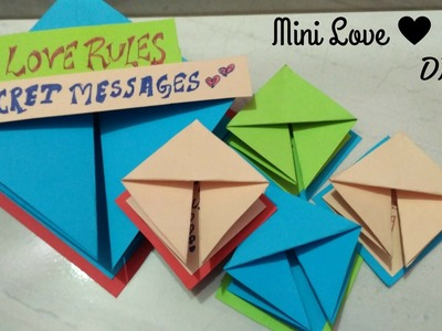 || DIY || Mini love  Messages card from paper sheet
