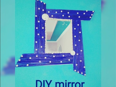 DIY mirror. . . .  How to decorate mirror. . .  By sam creations. .