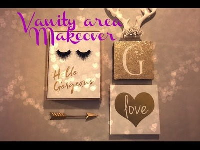 DIY Project Pt.2- Hubby Helps Me Makeover My Vanity Area