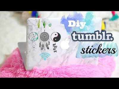 DIY Tumblr Stickers WITHOUT Sticker Paper || marouane gr