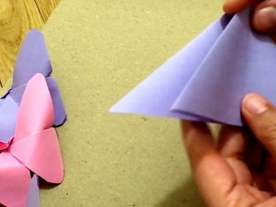 Easy ORIGAMI BUTTERFLY for kids project