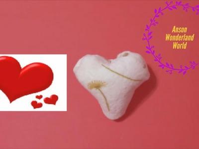 Easy Origami How to Make Face Towel Folding - Heart 简单手工折纸  面巾 爱心.簡単折り紙 おしぼり- 桃ハートです