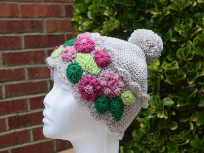 How to crochet a Hat.beanie. for women and girls