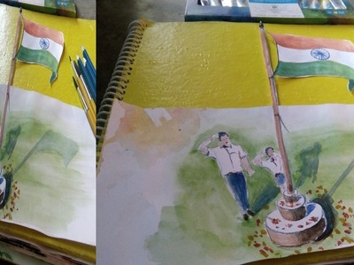 How to draw a 3d National Flag of India
