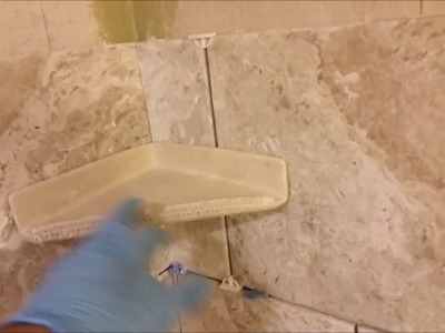 How to install corner shelf  on a shower wall - Part 1 - DIY