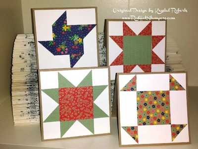 How to Make a Quilt Block Card with Stampin' Up! Paper
