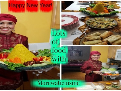 How to make An Authentic Traditional Decorated YellowTurmeric Rice.Autentik Nasi Tumpeng Hias