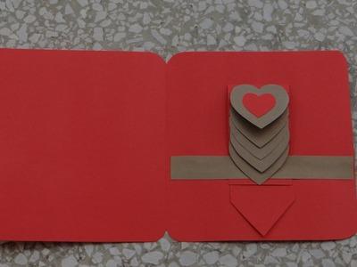 "How to make Waterfall Heart Card (basic) tutorial |DIY| (Kako napraviti osnovu ""Vodopad"" cestitke)"