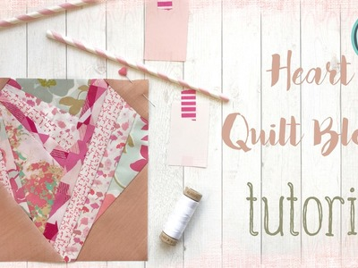 How To Quilt - Sew a Paper Pieced Heart Block - Quilting Tutorial