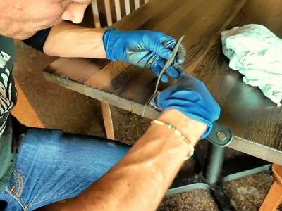 How to repair a cracked wood table with Mohawk Epoxy Putty
