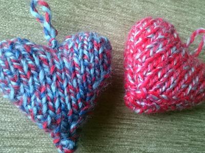 Knitting heart | DIY heart shape | حياكه قلب