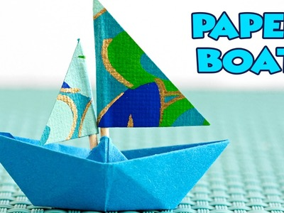 Learn How To Do Paper Boat | Origami Paper Crafts | Easy DIY Crafts For Kids | Kids Fun Time Videos
