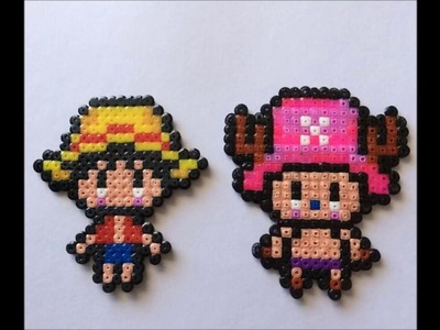 Luffy & chopper  - One Piece Hama Beads mini | Speed Art