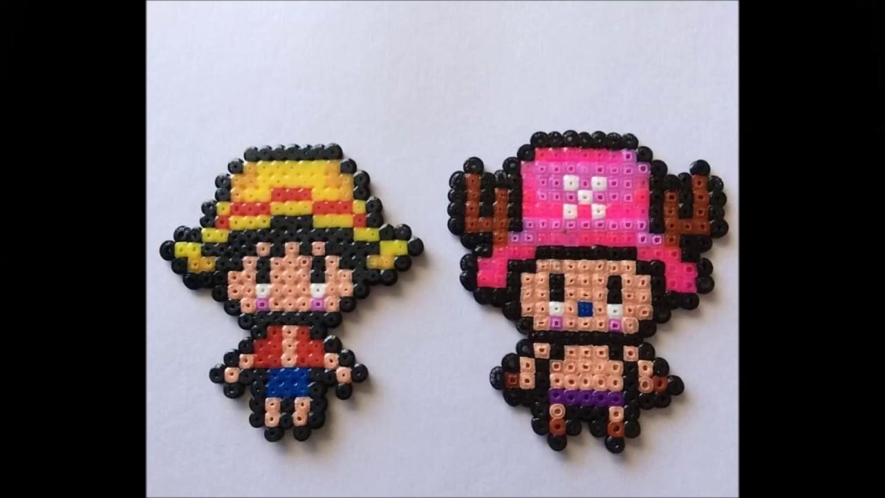Luffy & chopper  - One Piece Hama Beads mini | Speed Art