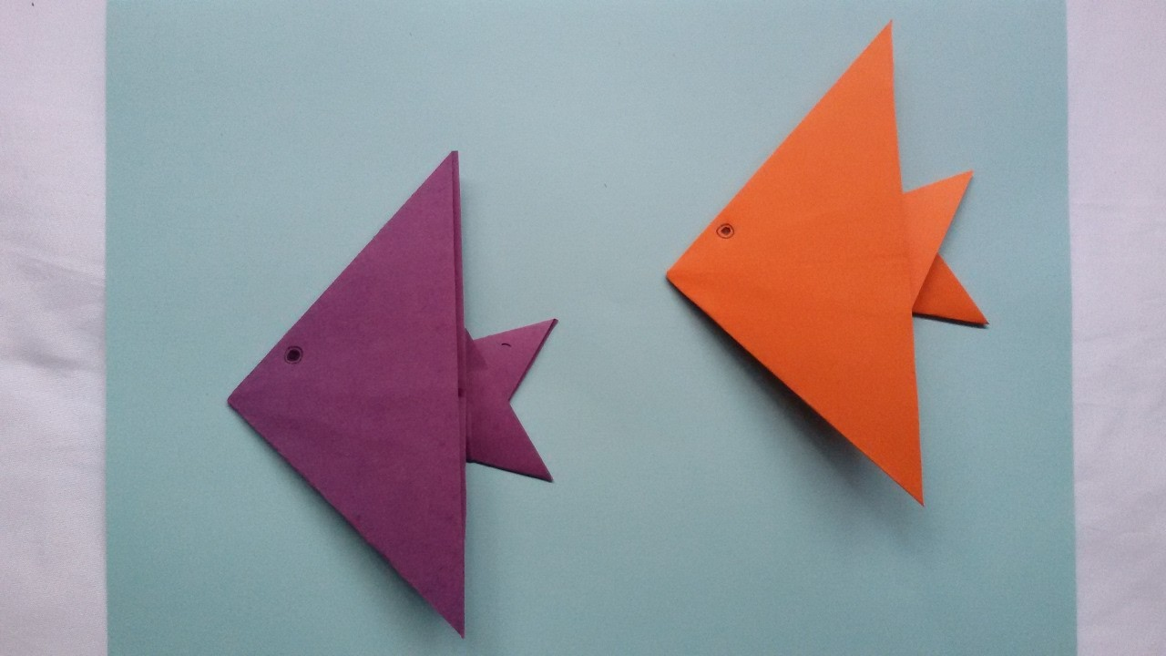 Origami fish - Pez de papel