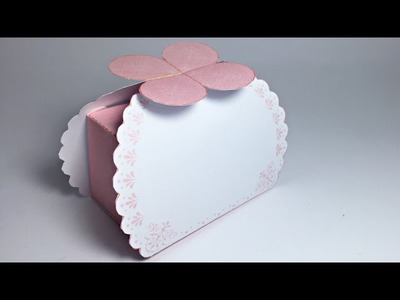 Pink Gift Box Paper Crafts tutorial !