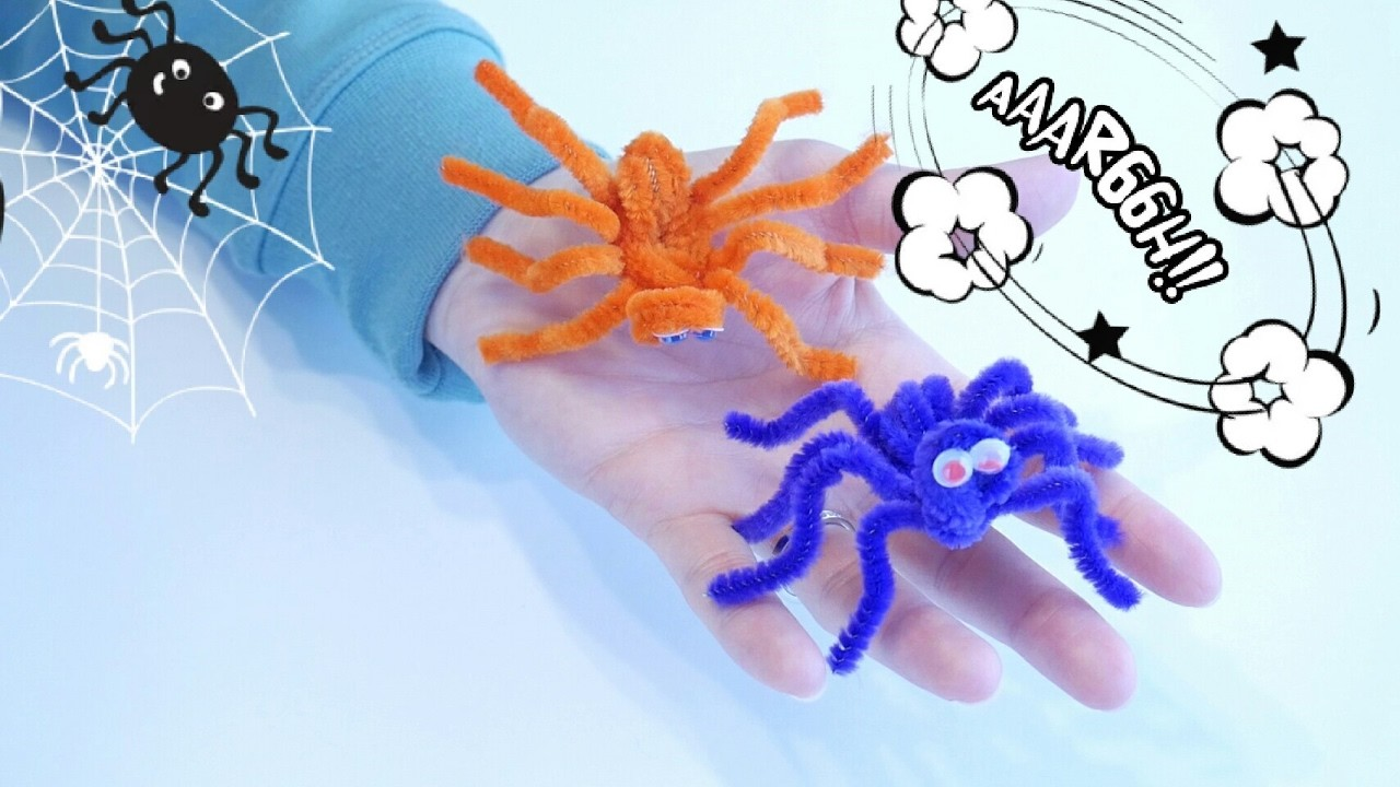 Pipe Cleaner Crafts Spider Pipe Cleaners Super Easy Fast