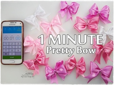 1 Minute Art DIY BOW ♡ Maremi's Small Art ♡