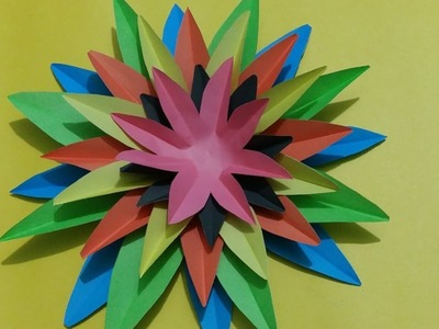 Awesome Paper Crafts flower Wall Decor ideas - diy craft ideas