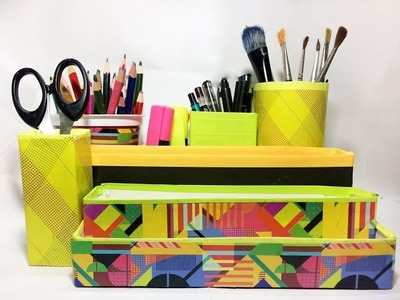 Best organizer for your desk!  (Upcycling)